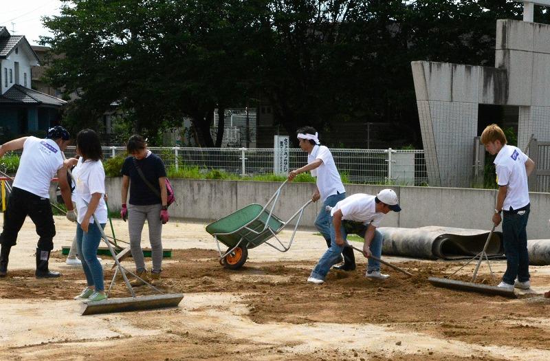 天理大学 「第1回熊本地震学生ボランティア」を熊本県益城町などで実施